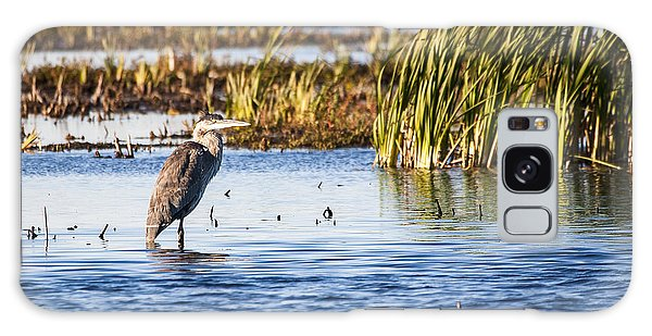 Heron - Horicon Marsh - Wisconsin Galaxy Case by Steven Ralser