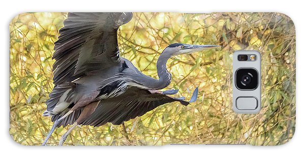 Heron In Flight Galaxy Case by Keith Boone