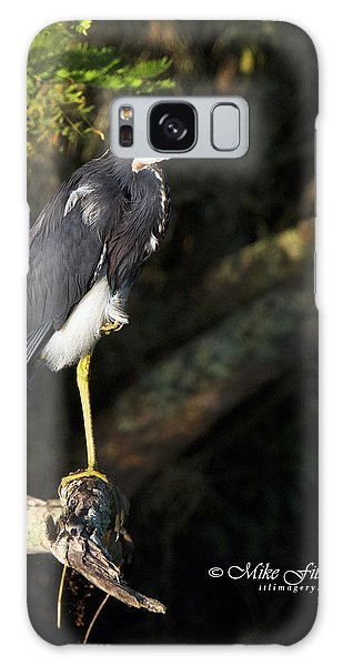 Heron In The Light Galaxy Case