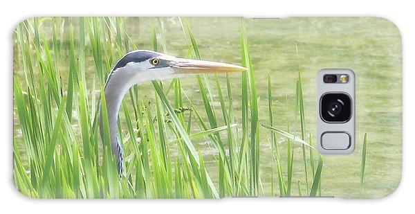 Heron In The Reeds Galaxy Case by Anita Oakley