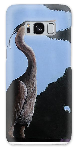 Heron In The Trees Galaxy Case