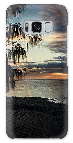 Heron Island Sunset  Galaxy Case