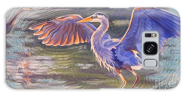Heron Majesty Galaxy Case by Janet McDonald