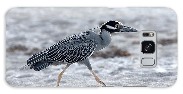 Yellow-crowned Night Heron On A Mission Galaxy Case