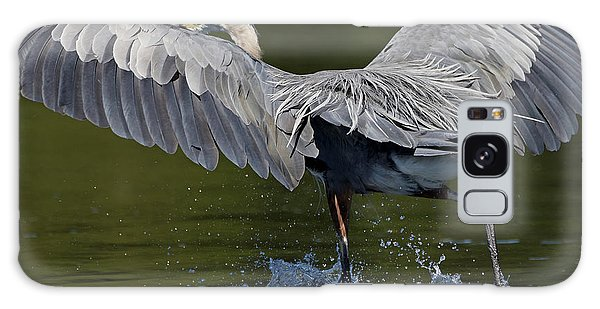 Heron On The Run Galaxy Case