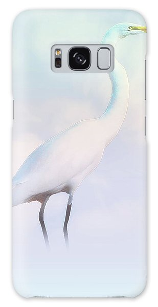 Heron Or Egret Stance Galaxy Case