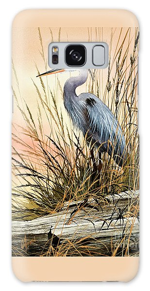 Herons Galaxy Case - Heron Sunset by James Williamson