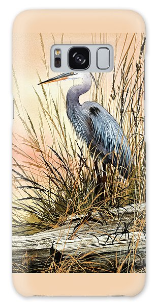 Heron Sunset Galaxy Case