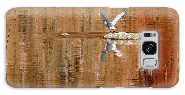Heron Tapestry Galaxy Case by Evelyn Tambour