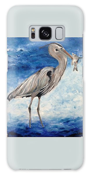 Heron With Fish Galaxy Case