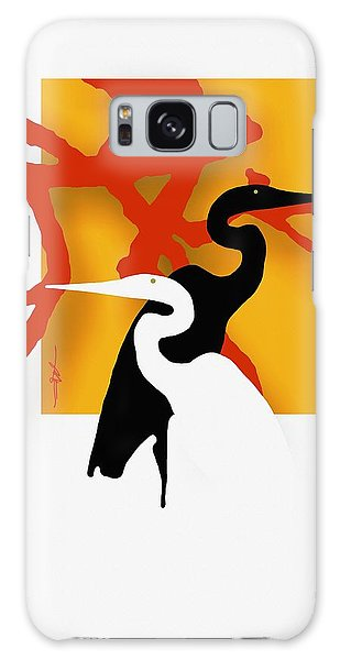 Herons  Galaxy Case by Bob Salo