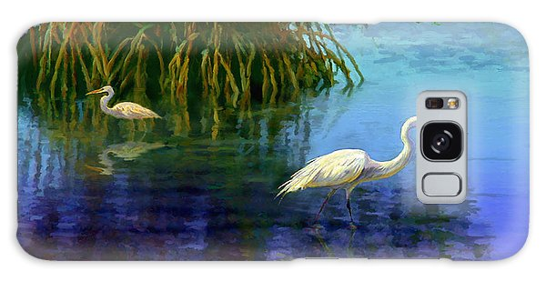 Herons In Mangroves Galaxy Case