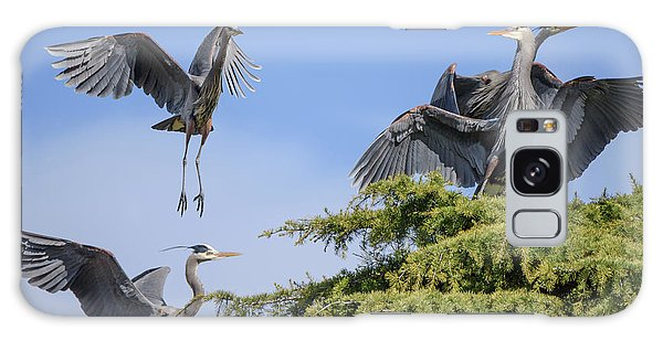 Herons Mating Dance Galaxy Case