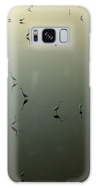 Herons On Lake 367 Galaxy Case