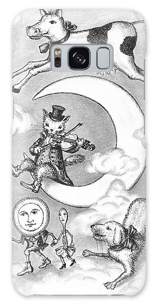 Pen And Ink Drawing Galaxy Case - Hey Diddle Diddle by Adam Zebediah Joseph