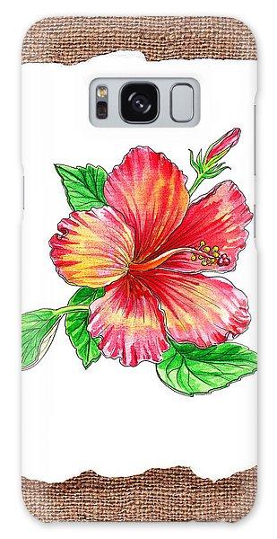 Hibiscus Galaxy Case - Hibiscus Flower Botanical by Irina Sztukowski