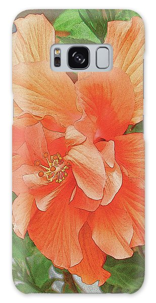 Galaxy Case featuring the painting Hibiscus Flower by John Dyess