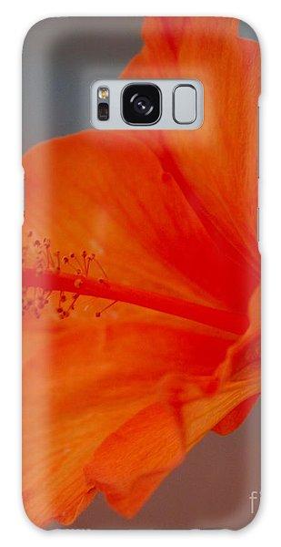 Hot Orange Hibiscus Galaxy Case