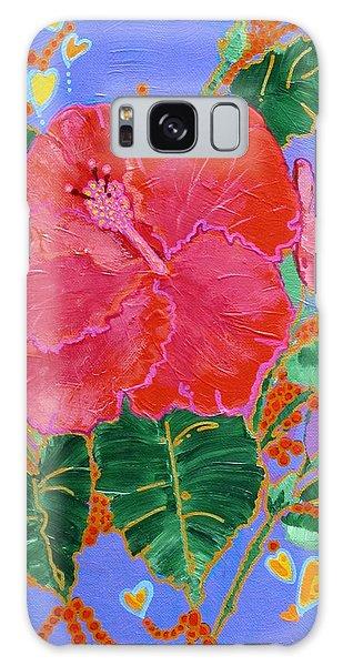 Hibiscus Motif Galaxy Case