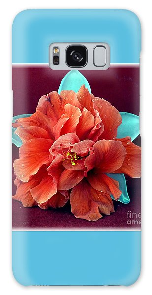 Hibiscus On Glass Galaxy Case