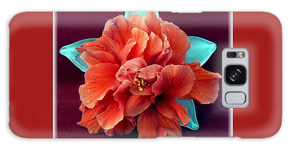 Hibiscus On Glass Galaxy Case by Barbie Corbett-Newmin