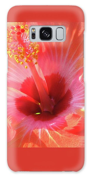 Hibiscus - Shades Of Coral Galaxy Case