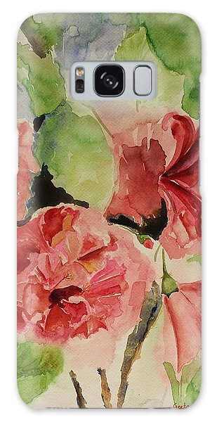 Hibiscus Stilllife In Impressionism Style Galaxy Case