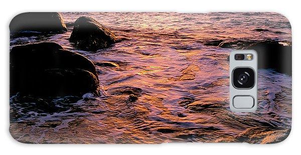 Hidden Cove Sunset Redwood National Park Galaxy Case