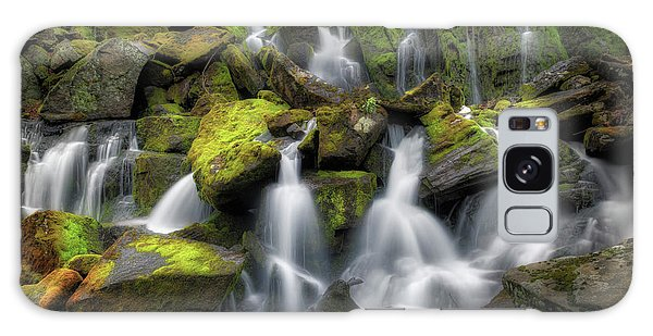 Galaxy Case featuring the photograph Hidden Mossy Falls by Bill Wakeley