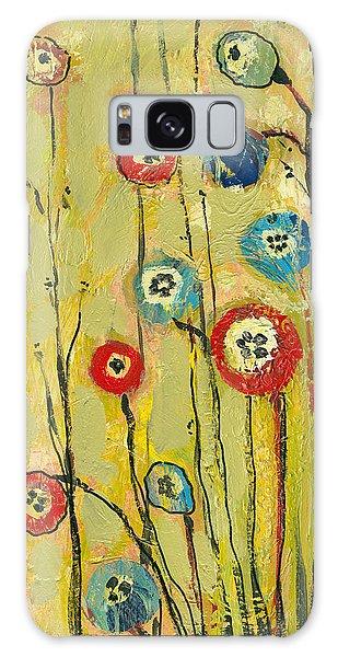 Floral Garden Galaxy Case - Hidden Poppies by Jennifer Lommers