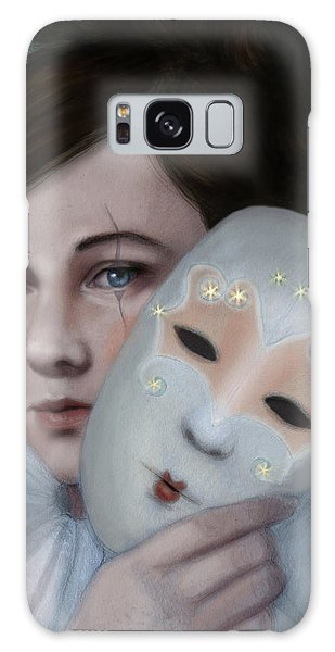 Hiding Behind Masks Galaxy Case