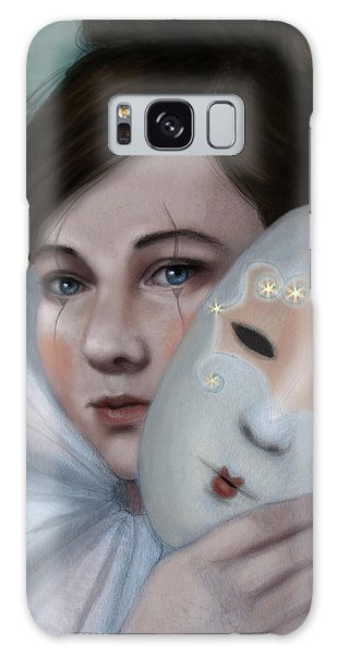 Hiding Behind Masks Galaxy Case