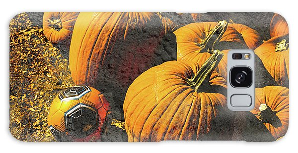Hiding In Plain Pumpkin Galaxy Case by Deborah Nakano