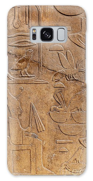 Language Galaxy Case - Hieroglyphs On Ancient Carving by Jane Rix