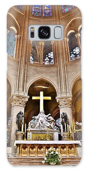 High Alter Notre Dame Cathedral Paris France Galaxy Case