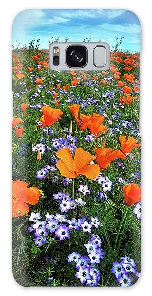 High Desert Wildflowers Galaxy Case