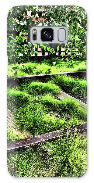 High Line Nyc Railroad Tracks Galaxy Case