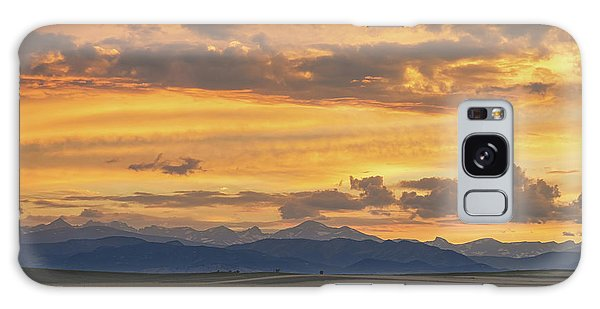 Galaxy Case featuring the photograph High Plains Meet The Rocky Mountains At Sunset by James BO Insogna