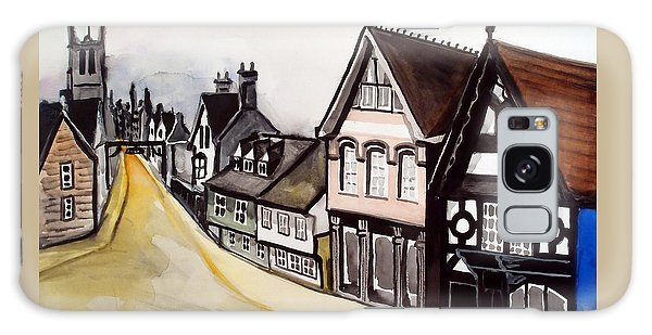 High Street Of Stamford In England Galaxy Case by Dora Hathazi Mendes