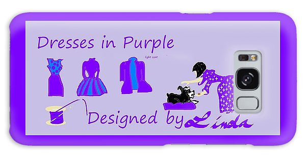High Style Fashion, Dresses In Purple Galaxy Case