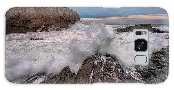High Tide At Bald Head Cliff Galaxy Case by Rick Berk