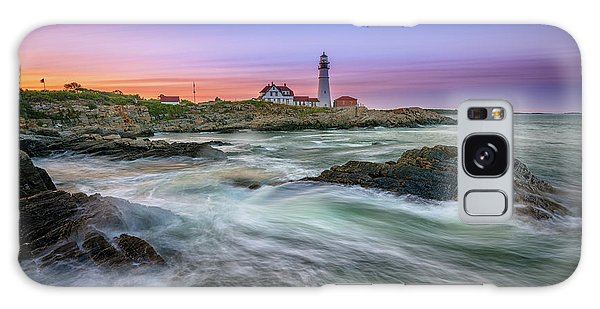 Galaxy Case featuring the photograph High Tide At Portland Head Lighthouse by Rick Berk