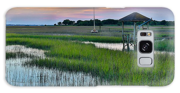 High Tide On The Creek - Mt. Pleasant Sc Galaxy Case