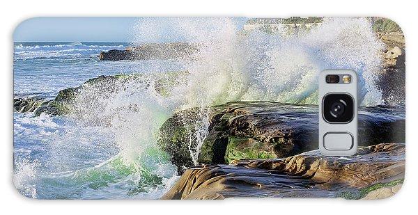 High Tide On The Rocks Galaxy Case by Eddie Yerkish