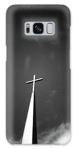Greeting Galaxy Case - Higher To Heaven - Black And White Photography By Linda Woods by Linda Woods