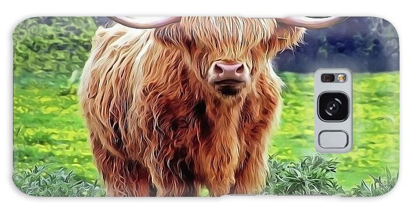 Galaxy Case featuring the painting Highland Cow by Harry Warrick