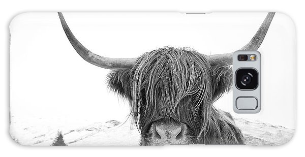 Highland Cow Mono Galaxy Case