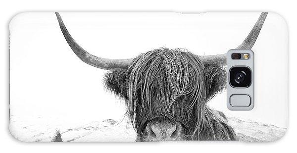 Highland Cow Mono Galaxy Case