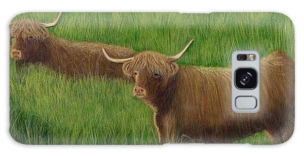 Highland Cows Galaxy Case
