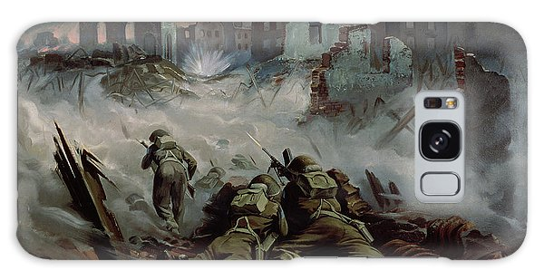 Assault Galaxy Case - Highlanders Advancing To Caen by Orville Norman Fisher